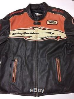 Rare Harley Davidson Screamin Eagle Victory Lap XXL Leather Jacket Men's 2XL