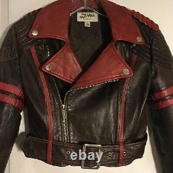 Rare Jean Paul Gaultier x Target Cropped Lambskin Leather Biker Jacket Size S