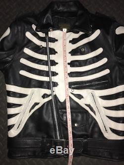 Rare Vanson Bones Motorcycle Leather Jacket Men's Size 42 Medium Large Vintage