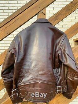 Rare Vanson horsehide leather jacket 40 42 motorcycle biker perfecto riding USA