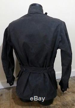 Rare Vintage Barbour Beacon Steve Mcqueen Style Wax Jacket Motorcycle Icon