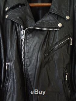 Rare Vintage Men's Dallas Premium Leather INDIAN Patches Motorcycle Jacket Sz L