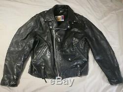 Rare Vintage Schott Perfecto Size 44 Leather Jacket Motorcycle Neegan