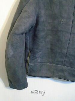 Rare Vintage Speed Leathers Sheepskin Swedish Army Tanker Jacket Size L