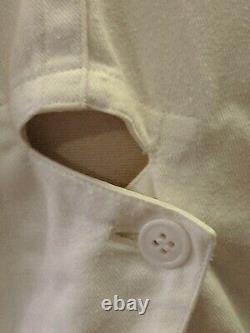 Rare Vtg Yohji Yamamoto Broad Shldr Wasp Waist Avant Garde Cotton Fencing Jacket