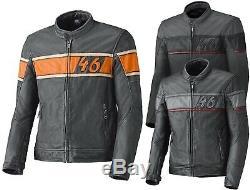 Reduziert Held Stone Herren Motorradjacke Lederjacke Cafe Racer Retro Used Look