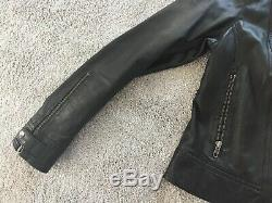 Reiss 1971 ladies Leather Biker Jacket Size UK10/12