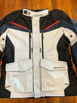 Revit Safari 3 CE Armored Waterproof Motorcycle Adventure Jacket Men's Large