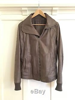 Rick Owens Intarsia High Neck Leather Jacket (PLINTH F/W 2013)