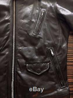 Rick Owens Mens Black Leather Stooges Biker Motorcycle Jacket Original Tags M 48