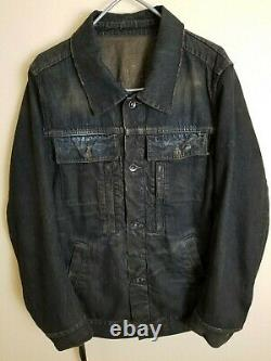 Rick Owens rare old(pre-Paris possibly) denim jacket Sz XL fits like 46-48 M-L