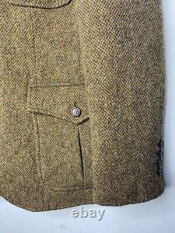 Rugby Ralph Lauren Medium Blazer Jacket RRL VTG Hunting Herringbone Tweed Brown