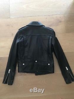 SAINT LAURENT Leather Motorcycle'Biker' Jacket RRP $7000! Heidi Slimane