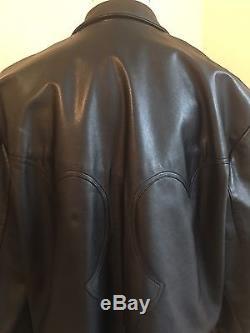SALE! CHROME HEARTS Men's Black Leather Motorcycle Jacket Coat Blazer! 54