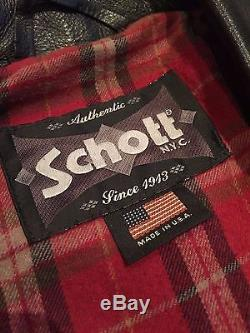 SCHOTT 626 One Star PERFECTO Lightweight Leather Motorcycle Jacket L (44)
