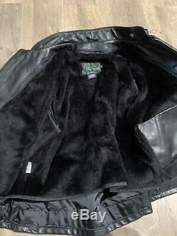 SCHOTT 671 Easy Rider Steerhide Jacket 42 NYC Motorcycle Cafe Leather Perfecto