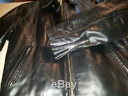 SCHOTT 689H Horsehide Leather Jacket Size 46