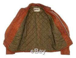SCHOTT Leather Jacket USA M Medium 42 Mens Vintage Motorcycle Jacket CAFE RACER