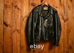 SCHOTT PERFECTO RARE 615 70's VINTAGE RIDERS MOTORCYCLE LEATHER JACKET XL-46