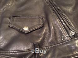 SCHOTT PERFECTO VINTAGE LEATHER MOTORCYCLE JACKET SIZE 40 Immaculate Condition