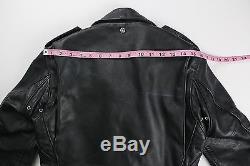 SCHOTT PERFECTO Vintage Mens Black Leather Motorcycle Jacket Size 34 XS