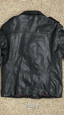 SCOTCH & SODA Black Leather Biker Jacket L