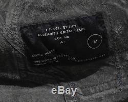 SLIM-FITTING Spitalfields ALL SAINTS MENS LORRIMER LEATHER SHIRT jacket M