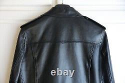 SS13 Saint Laurent Paris Black L01 Leather Biker Jacket Hedi Slimane Sz 48