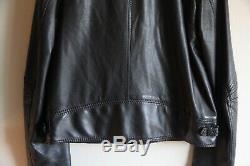 SUPER RARE AW05 Dior Homme Black Leather L-Zip Biker Jacket Hedi Slimane 50