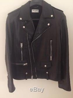 Saint Laurent, Black Leather Classic Biker Jacket