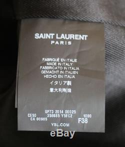 Saint Laurent Classic Motorcycle Leather Jacket Fr 38 Uk 10
