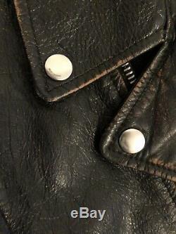 Saint Laurent L01 No Smoking Leather Jacket Sz. 48