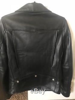 Saint Laurent Paris Mens lamb skin leather Jacket Size 46 (L01)