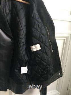 Sandro Suede/Leather Biker Jacket