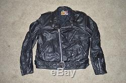 Schott 118 Perfecto leather jacket Large L 46 48 for Motorcycle Biker