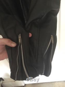 Schott 141 Black Leather Cafe Racer Men's Motorcycle Jacket Liner Size 46 L/XL
