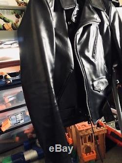 Schott 613SH Horse Hide Motorcycle Jacket Sz 38