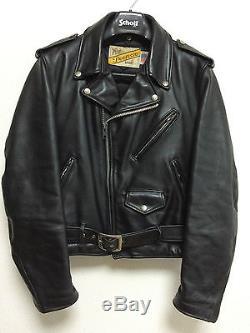 Schott 618 38 perfecto steerhide leather double motorcycle jacket racer 641