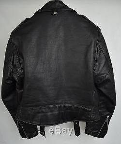 Schott 618 Perfecto Black Leather Jacket Motorcycle Biker USA Punk Rock 44 Mens