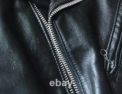 Schott 618 leather motorcycle riders Jackets 36 size M color black steerhide