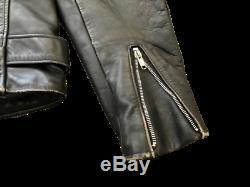 Schott 618 perfecto double leather jacket 38 racer motorcycle steerhide