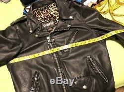 Schott 626 Leather Jacket Sz M Medium Black