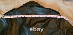 Schott 626 Size Small Perfecto black leather motorcycle jacket