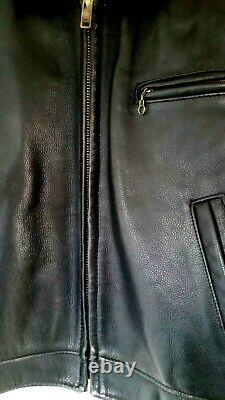 Schott 630 Leather Jacket Black Tagged 44 Zip Out Liner Highwayman Not Aero