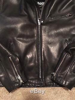 Schott 641 Men's Single Rider Steerhide Leather Motorcycle Jacket 42