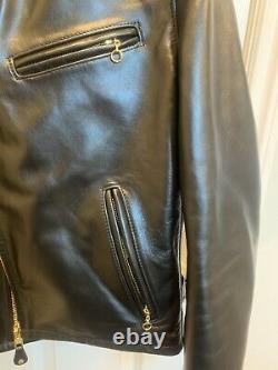 Schott 689H Black Horsehide Leather Jacket Size 40(fits like a 42 or 44)
