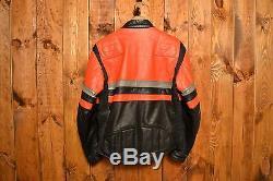 Schott British Riders Cowhide Vintage Cafe Motorcycle Biker Leather Jacket 42-l