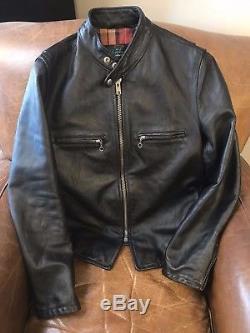 Schott CAF1 Horsehide Leather Motorcycle Jacket