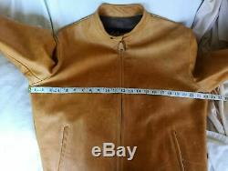 Schott Cafe Racer leather jacket M