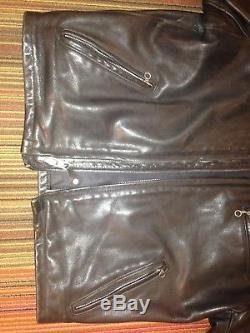 Schott Classic Racer Leather Motorcycle Jacket with Liner Style 141 (Size 40)